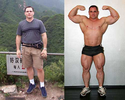 Bodybuilders Before and After Steroids